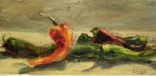 "Daily Paintworks - ""Hot Stuff"" - Original Fine Art for Sale - © Lina Ferrara"