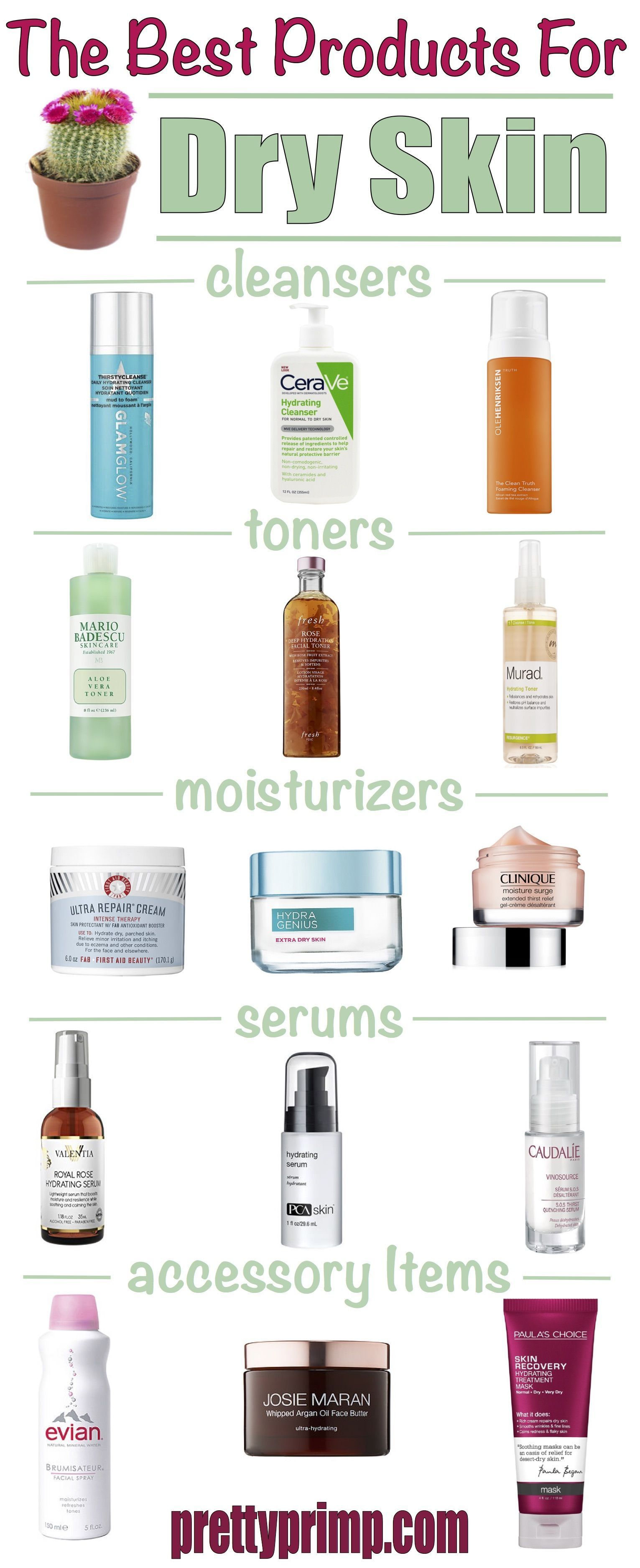 Check Out The Best Products For Dry Skin From The Drugstore And High End These Skincare Products Fo In 2020 Dry Skin Cleansers Skin Cleanser Products Oil For Dry Skin