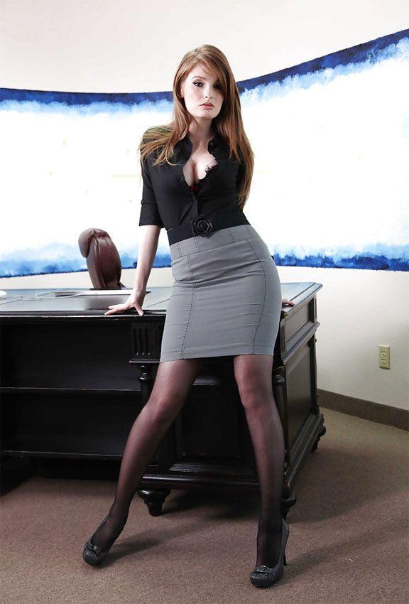 Redhead mature office