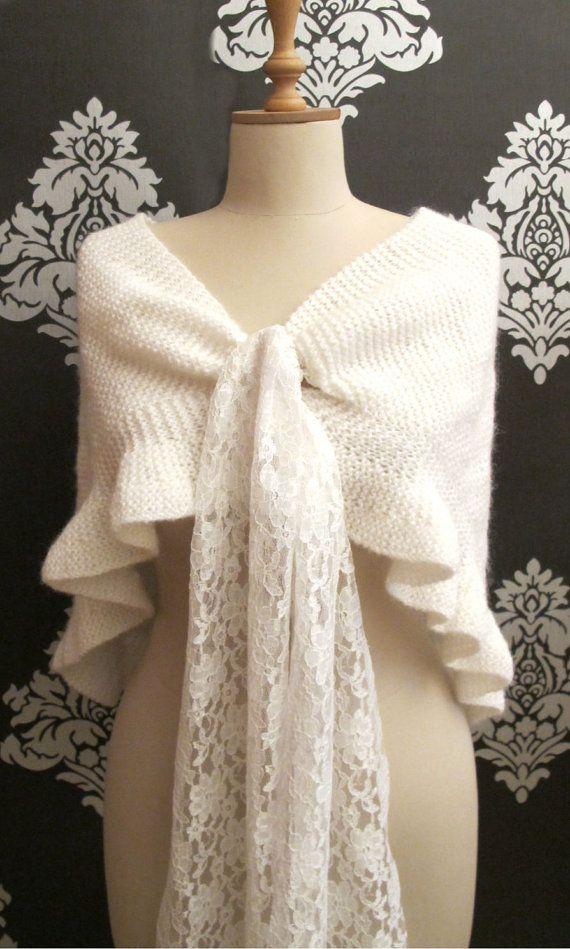 Bridal Plus Size Shrug Knitting Shawl Wrap Hand Knitted ...