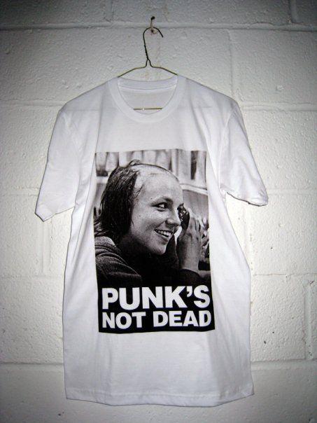 Punks Not Dead T-Shirt Womens SCREENPRINTED Punk Top Tee Retro Grunge ladies