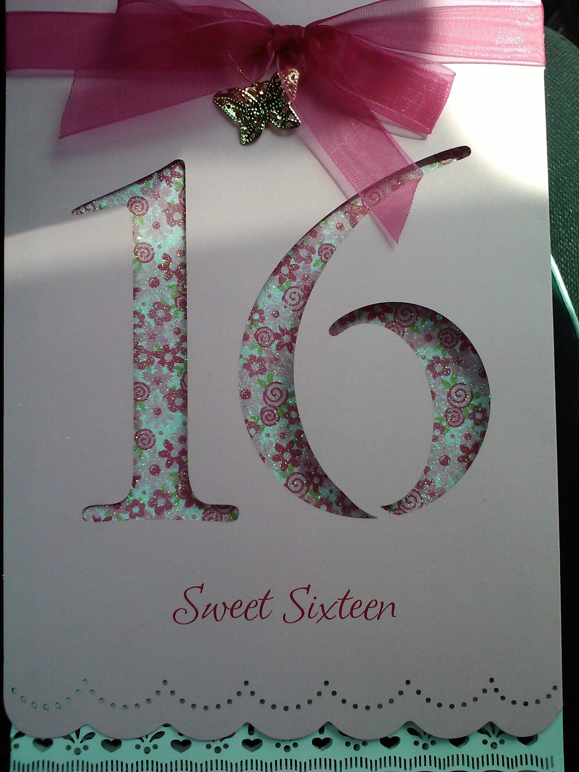 Handmade sweet 16 birthday card cards 16th birthday pinterest sweet 16 solutioingenieria Image collections