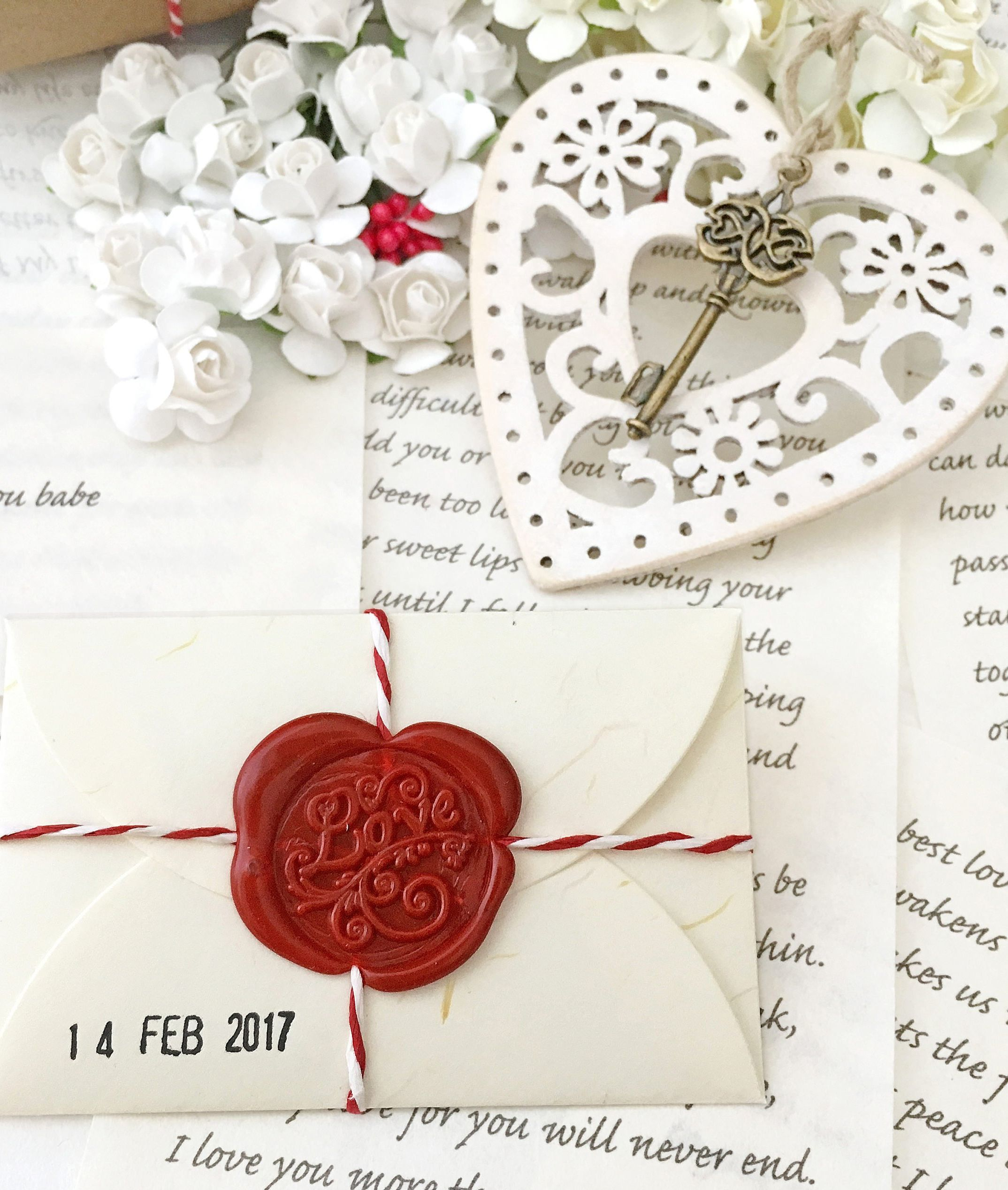 Personalised Heart Flowers Special Anniversary Gift Him Her BoyFriend GirlFriend