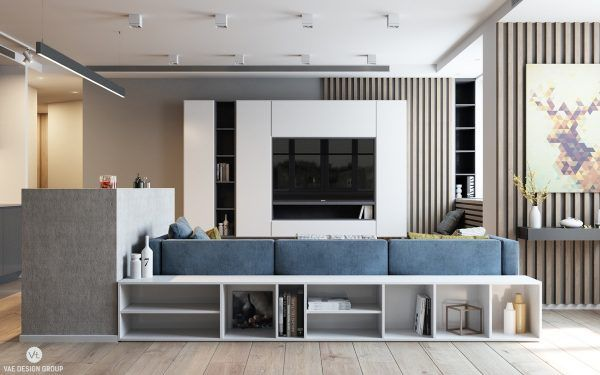 2 Modern Apartments Under 1200 Square Feet Area For Young Families Includes 3d Floor Plans Small Apartment Interior Modern Apartment Living Room Interior