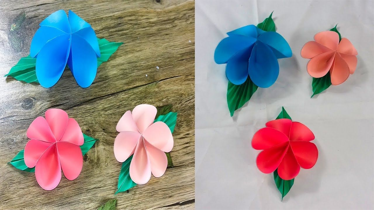 Origami Flower Easy Paper Flowersorigamihow To Make2018 Diy