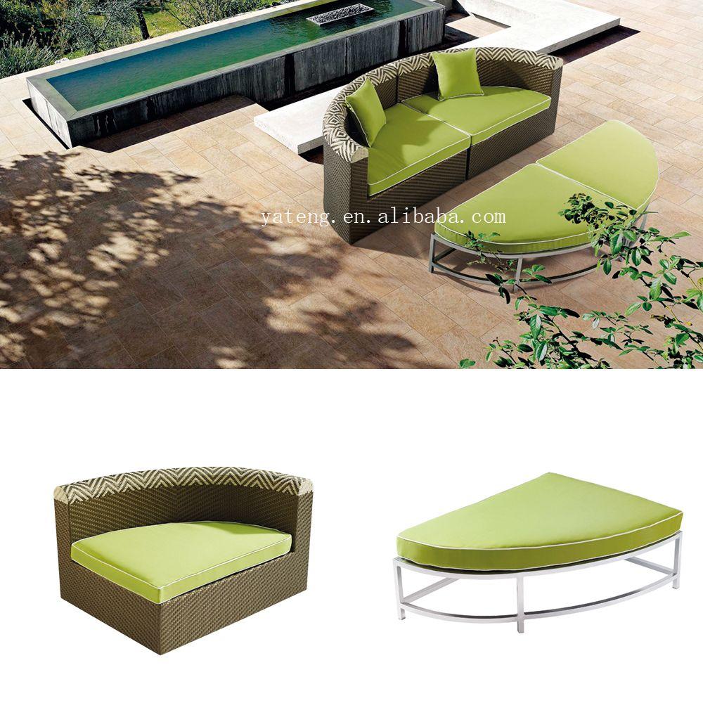 Cómodo patio sofá set all weather mimbre al aire libre muebles de ...