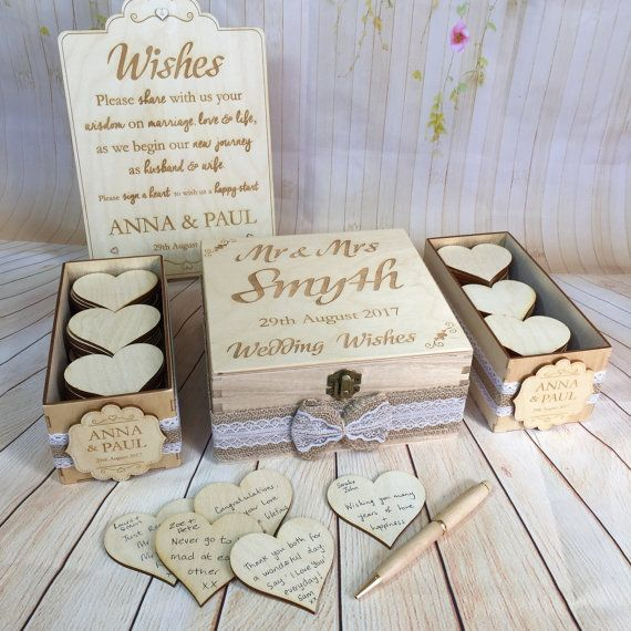 invitado libro cada alternativa deseo caja deseos madera rstica boda de la boda