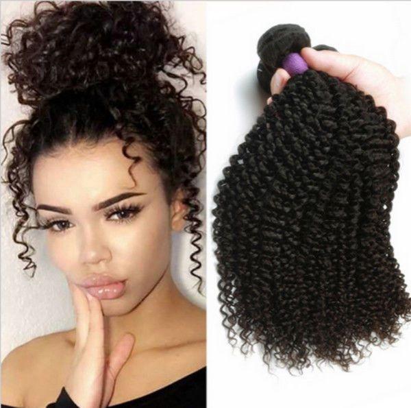 1 3 4 Bundles Kinky Curly Brazilian Virgin Weave Remy 100% Human ... 74961f83a