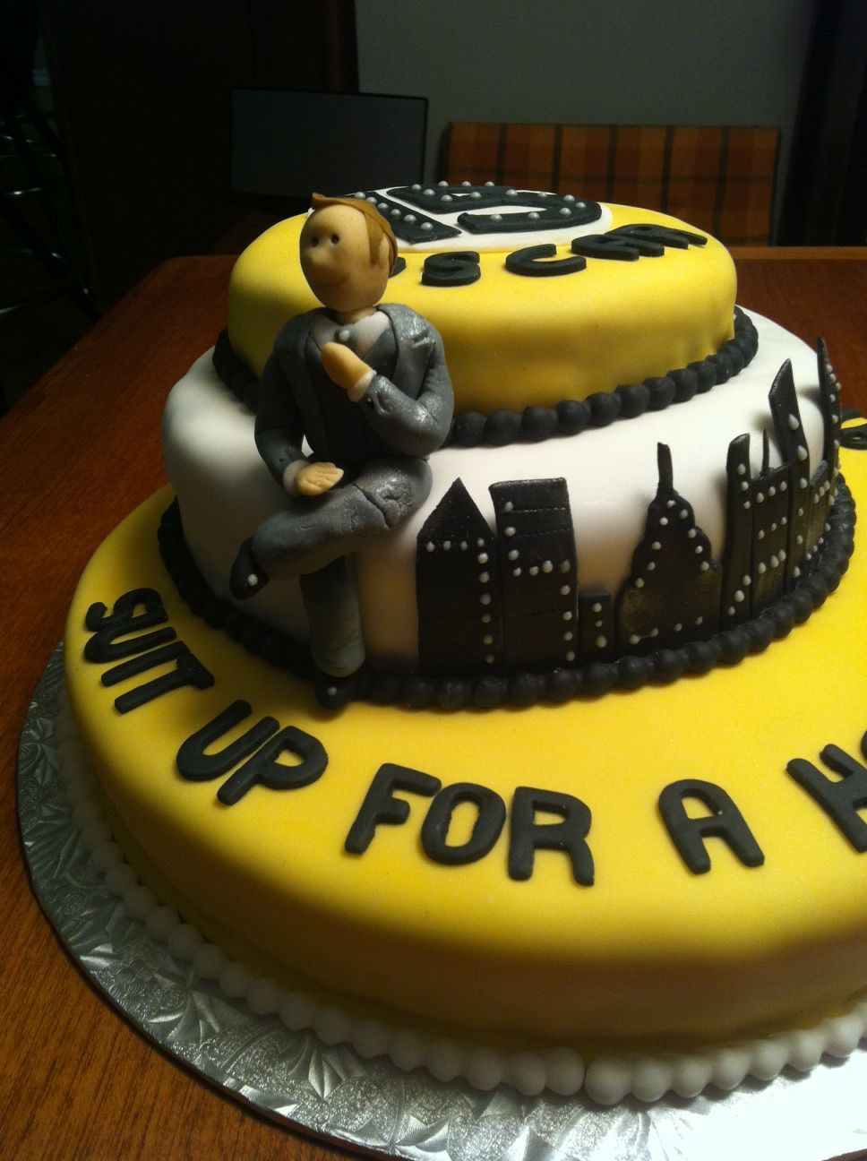 A How I Met Your Mother Cake For A 15 Year Old Boy It Says Suit