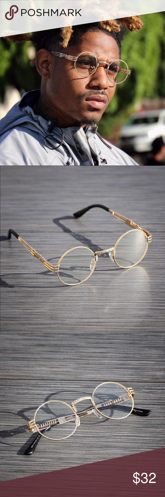 Retro Vintage Style Double Rim Round Dad Eyeglasses