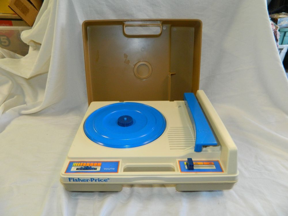 1978 Fisher Price #825 Record Player phonograph WORKS plays 33 45 rpm vintage #FisherPrice