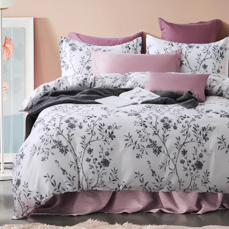 Arbolente Asian Toile Chinoiserie Branches Duvet Cover Set Duvet Cover Sets Duvet Covers Designer Bedding Sets