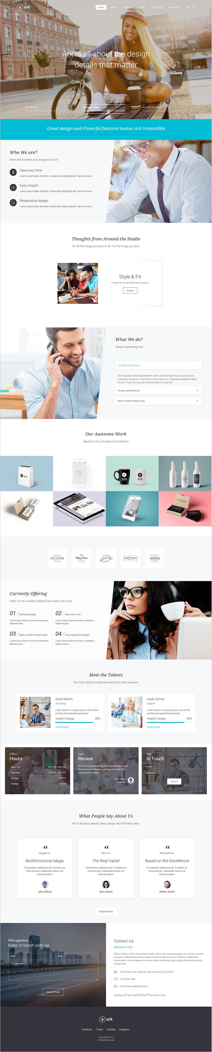 Ark Is An Awesome Next Generation Responsive Wordpress Theme For Webdesign Multipurpose Business Website D Responsive Theme Web Design Inspiration Wordpress