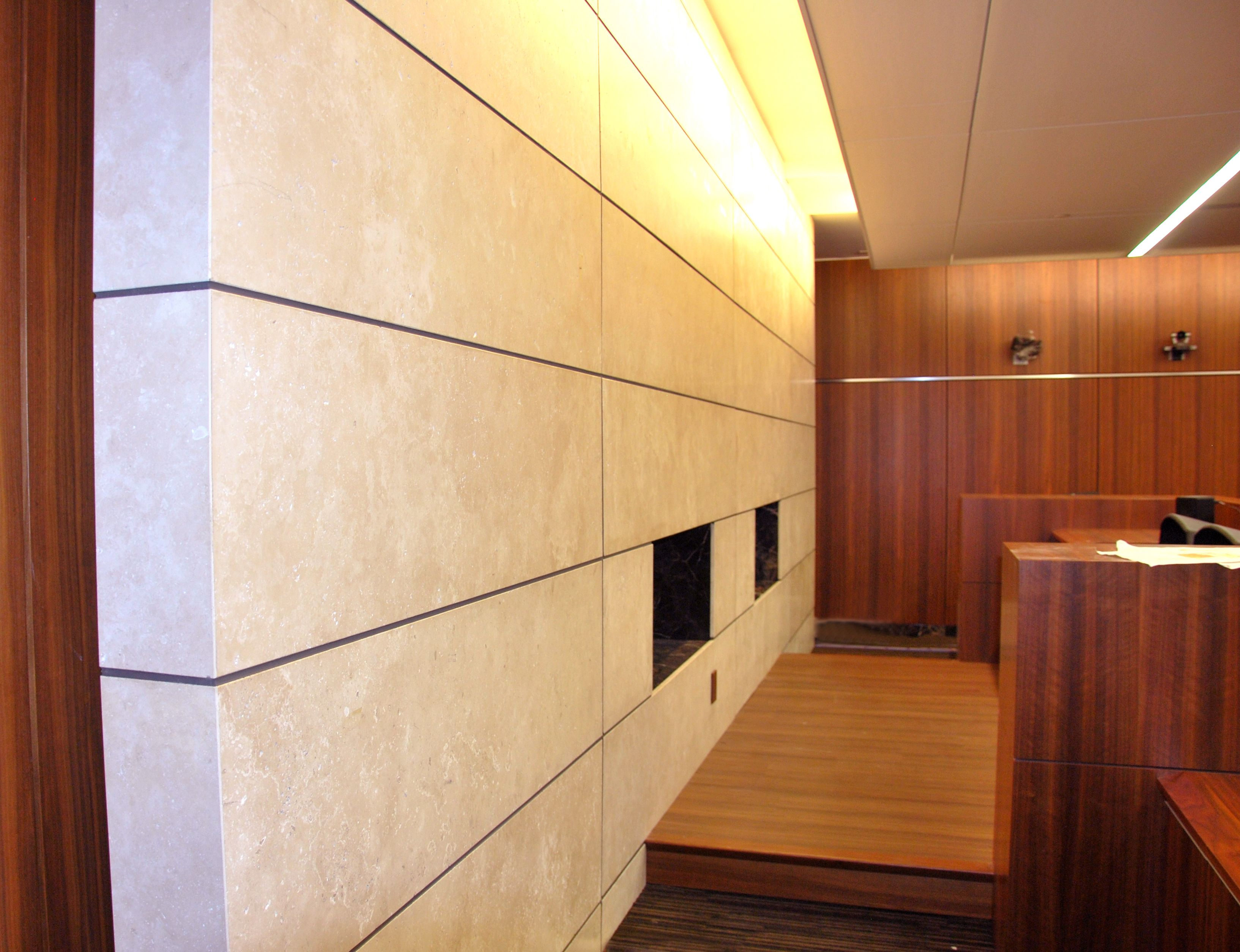 Trimstone Lightweight Stone Systems Interior Wall Cladding Courthouse Commercial