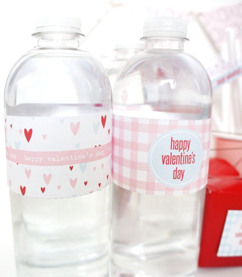 Valentine S Day Printable Water Bottle