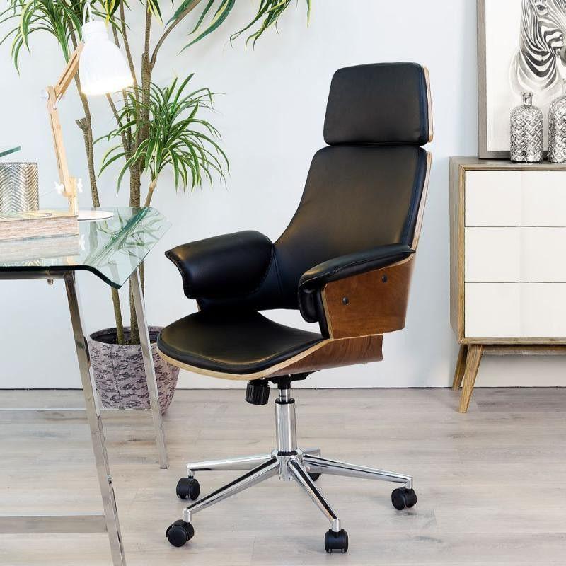 Https Tousmesmeubles Com 33175 Thickbox Default Fauteuil De Bureau Simili Cuir Noir Concorde J En 2020 Fauteuil Bureau Design Chaise De Bureau Design Fauteuil Bureau