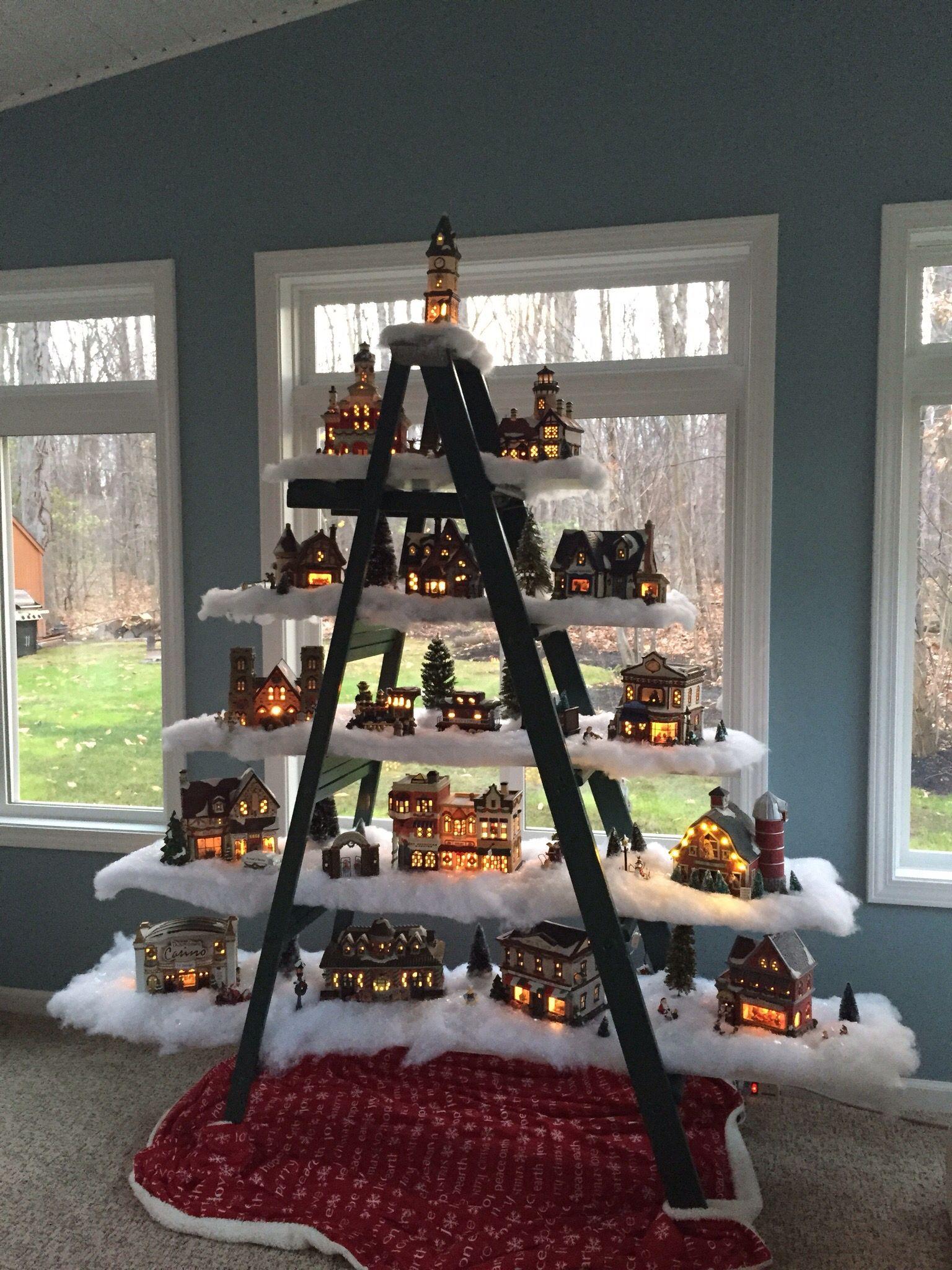 Christmas Tree Ladder | Christmas village display, Christmas deco, Christmas tree design