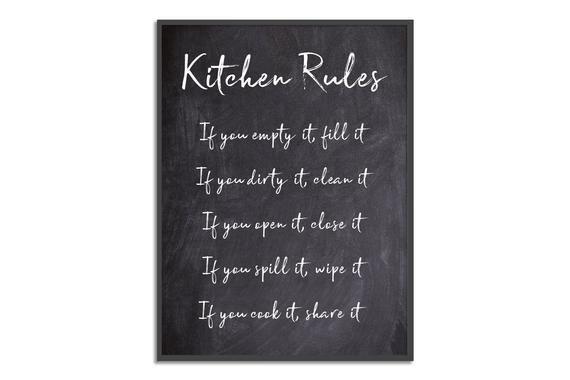 Kitchen Rules Print #kitchenrules Kitchen Rules Print #kitchenrules