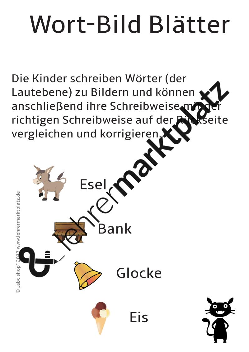 DaZ Rechtschreibung: Wort-Bild Blätter zur Übung der Anlaute ...