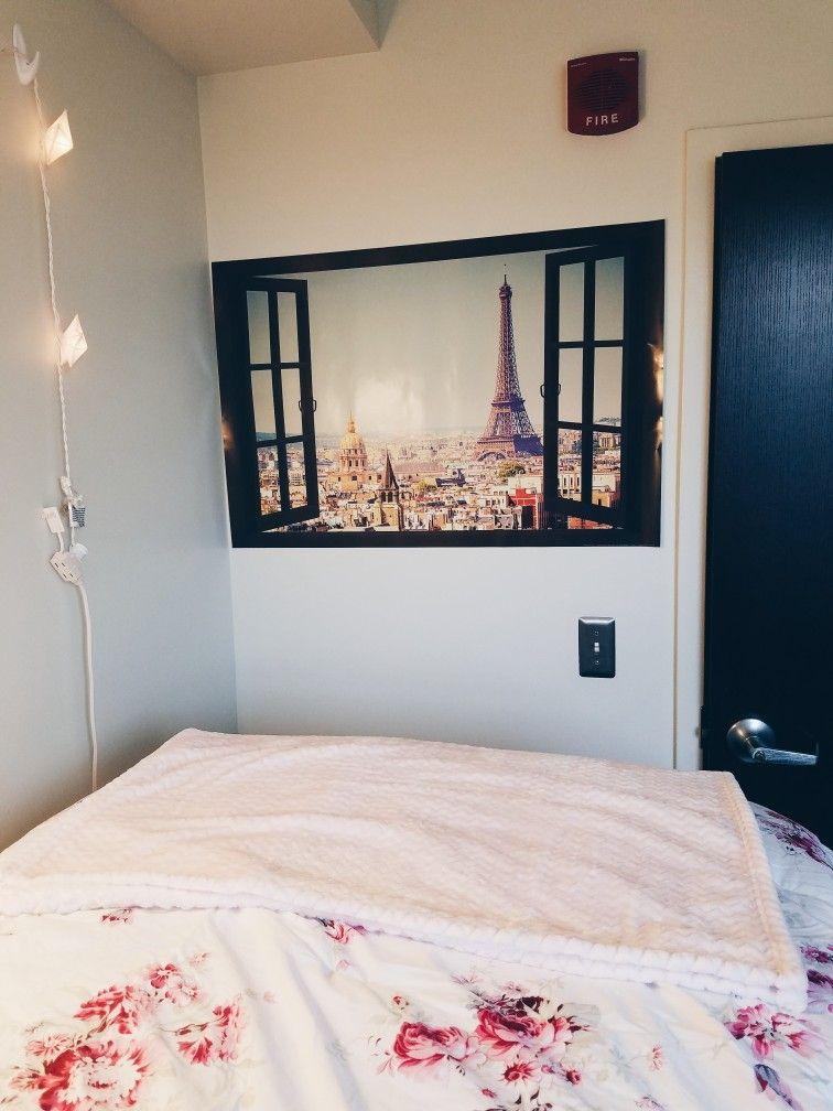 Paris, poster, Eiffel Tower, dorm room, dorm life, college, pink ...