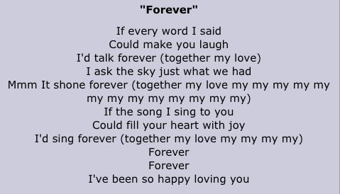 Forever The Lyrics Are So Cute Song Quotes Lyrics Songs