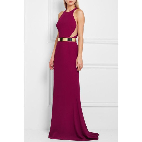 Stella McCartney Stella McCartney - Seskia Cutout Stretch-cady Gown ...