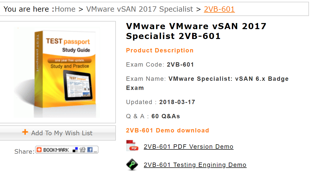 2vb-601 | Testpassport | Question, answer, Certificate