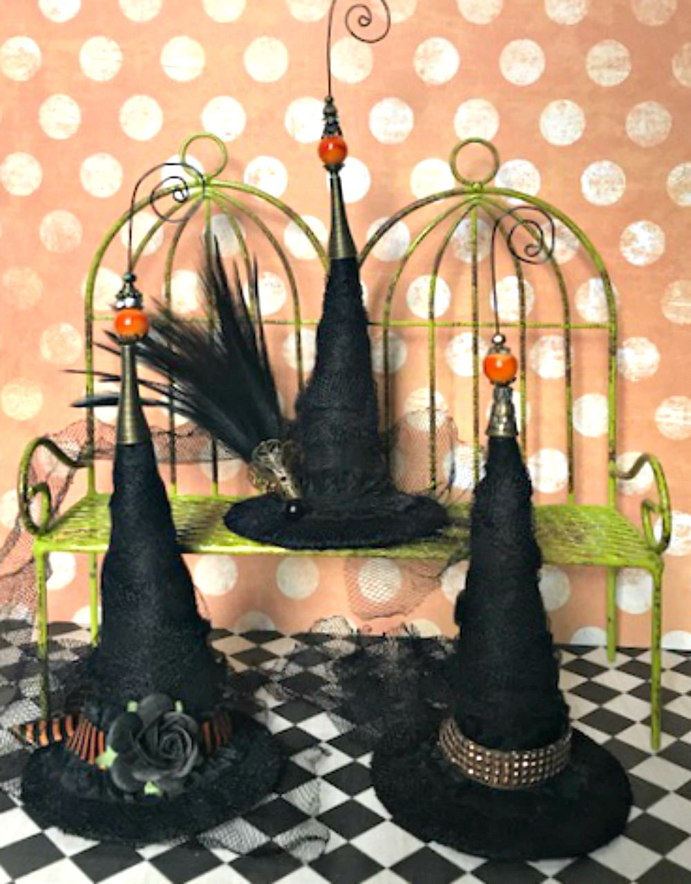 Witch Hat Ornaments Halloween Decoration Halloween Tree Halloween - Pinterest Halloween Decorations