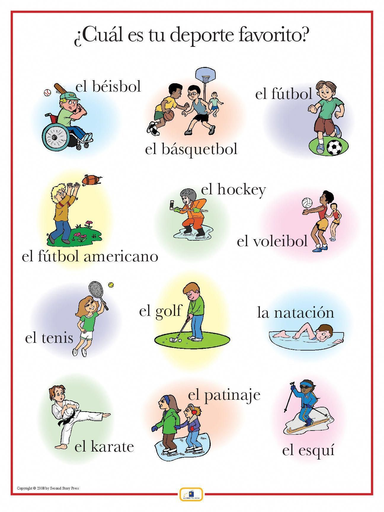 Spanish Sports Poster Learnspanish