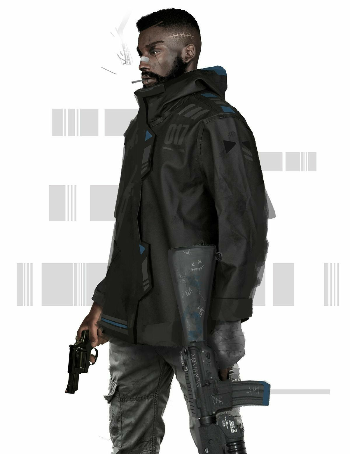 Nwo More Than Likely Cyberpunk Character Black Anime Characters