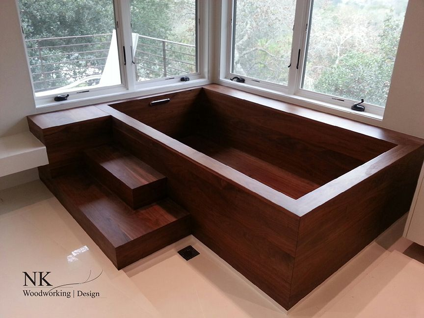 Wood Bathtubs Wooden Bath Sculpture By NK Woodworking