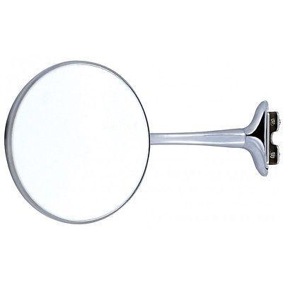 "4/"" Stainless Long Arm Universal Peep Mirror Left Right Door Edge Chrome Hardware"