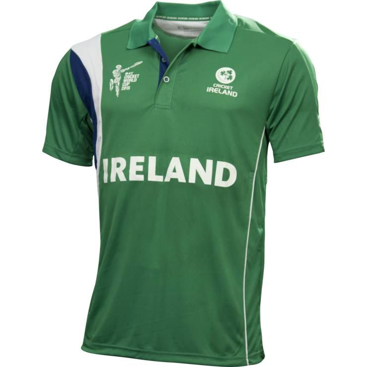 Ireland Cricket World Cup T Shirt 2015 Breathable Quick Dry Cotton Polyester Custom Designs Available Cricket T Shirt