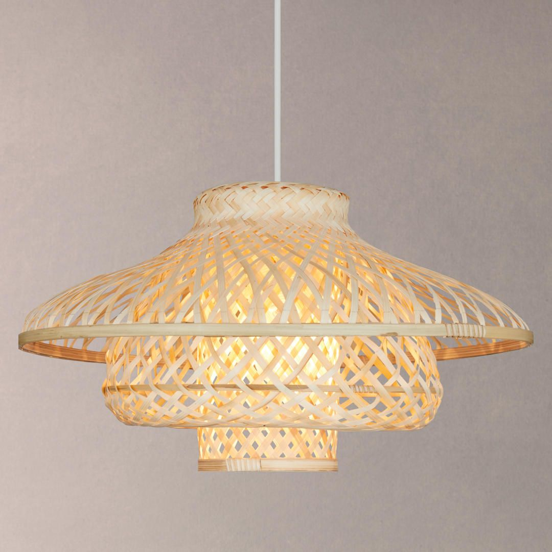 Buyjohn Lewis Easy To Fit Lyssa Rattan Ceiling Shade Natural Online At Johnlewis Com With Images Ceiling Shades Ceiling Bedroom Lampshade