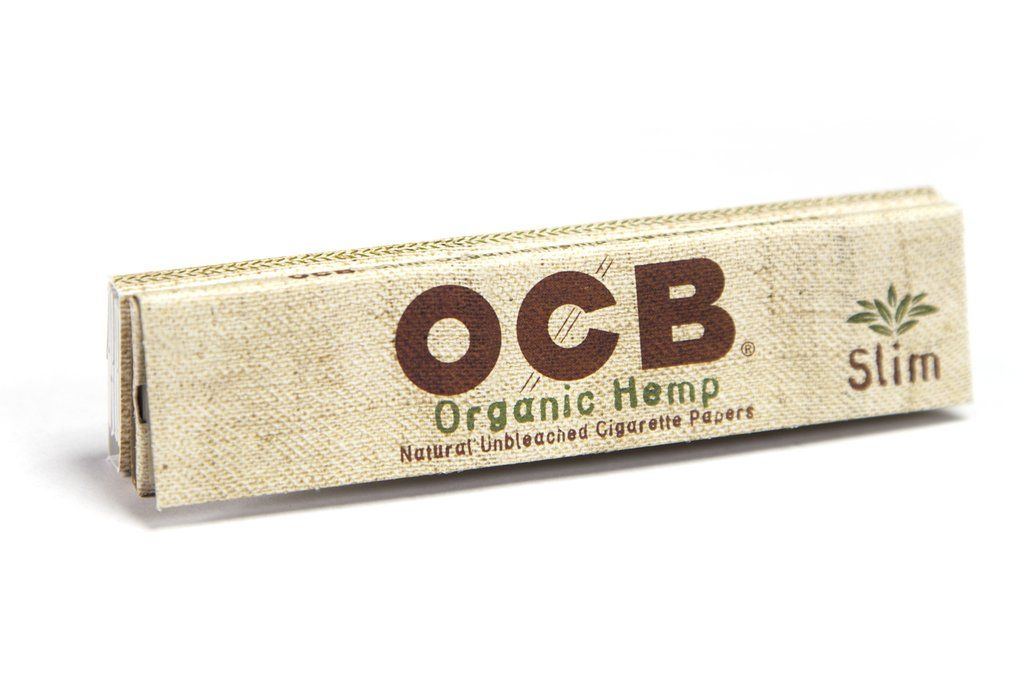 Ocb Organic Hemp Kingsize Slim Rolling Paper W Tips 32 Leaf Single Booklet Rolling Paper Hemp Organic