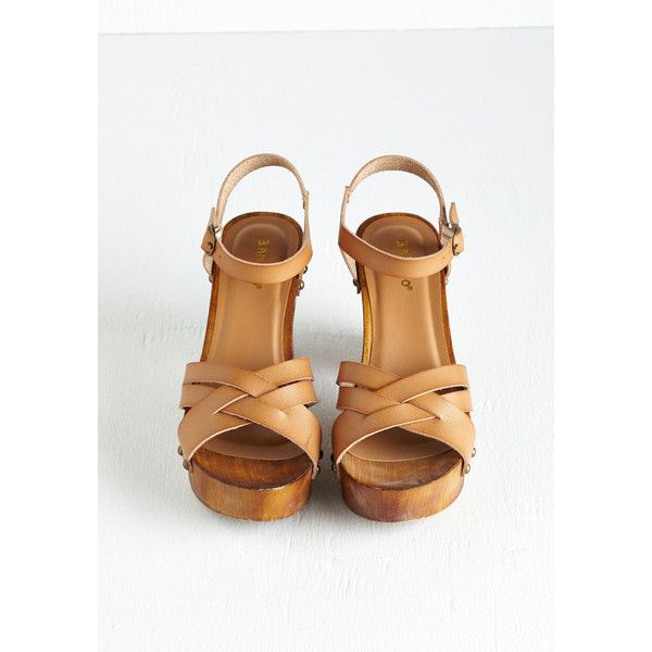 What's Up, Dock? Heel in Sand (£26) ❤ liked on Polyvore