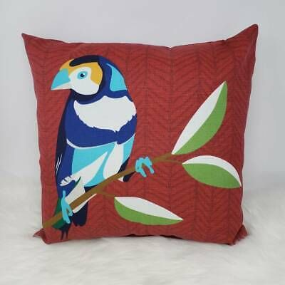 Indoor/ Outdoor Throw Pillow - Red with Bird Parrot Solid Colorblock Finch #fashion #home #garden #homedcor #pillows (ebay link)