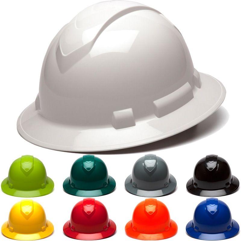 Pyramex Ridgeline Hp541 Full Brim 4 Point Ratchet Suspension Hard Hat Hard Hat Hard Hats Hats
