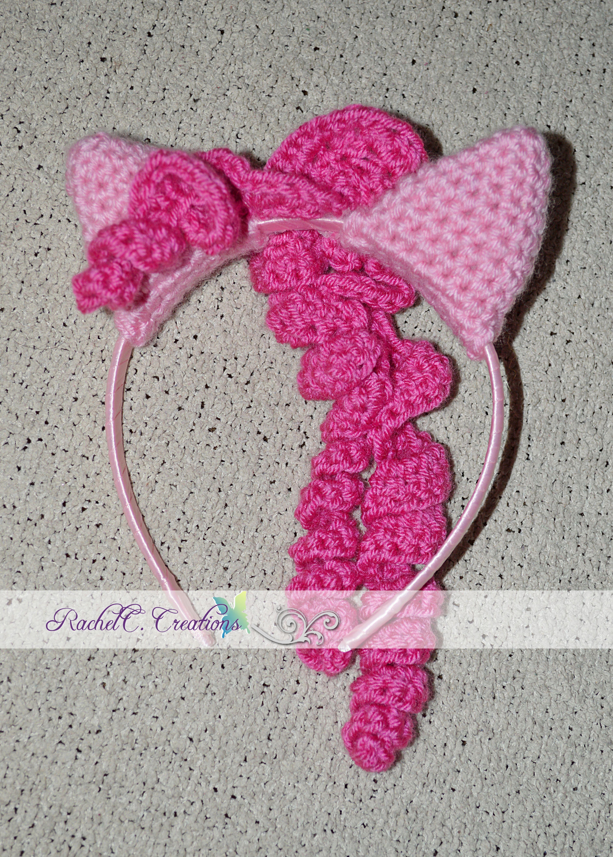 My Little Pony- Pinkie Pie Inspired Crochet Ears Headband by RachelC ...