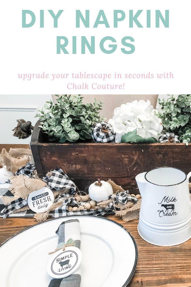 Farmhouse Napkin Rings #napkinrings
