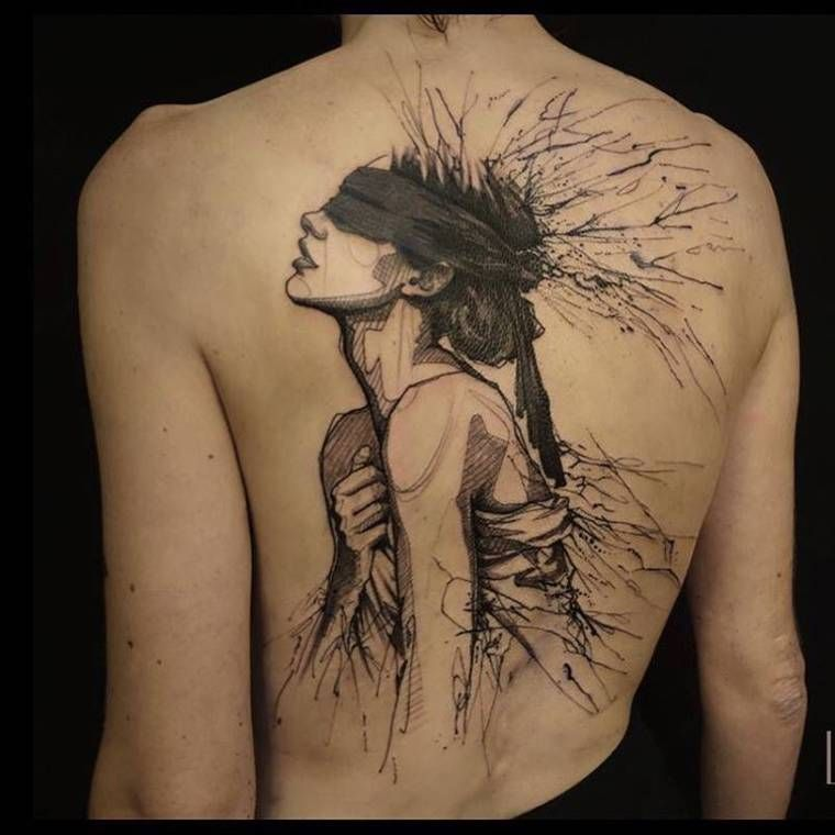 sketch tattoos the creations of l oiseau ink tattoos watercolor tattoo en. Black Bedroom Furniture Sets. Home Design Ideas