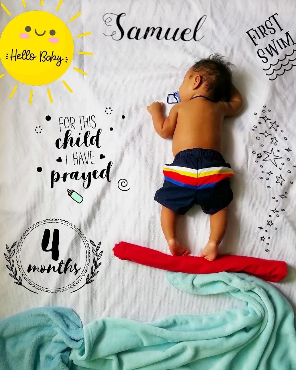 4 Meses Samuel Elías Sesion De Fotos Bebes Foto Estudio Bebes Poses Para Fotografía De Bebé
