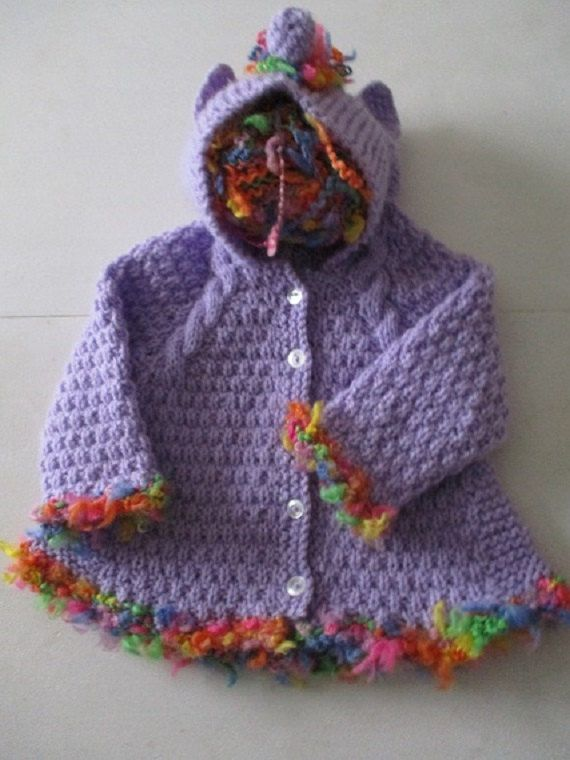 a92ae2750 Newborn baby unicorn hoodie handmade knit by WilverlyWoollens | For ...