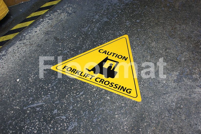 durable warehouse safety signs and floor