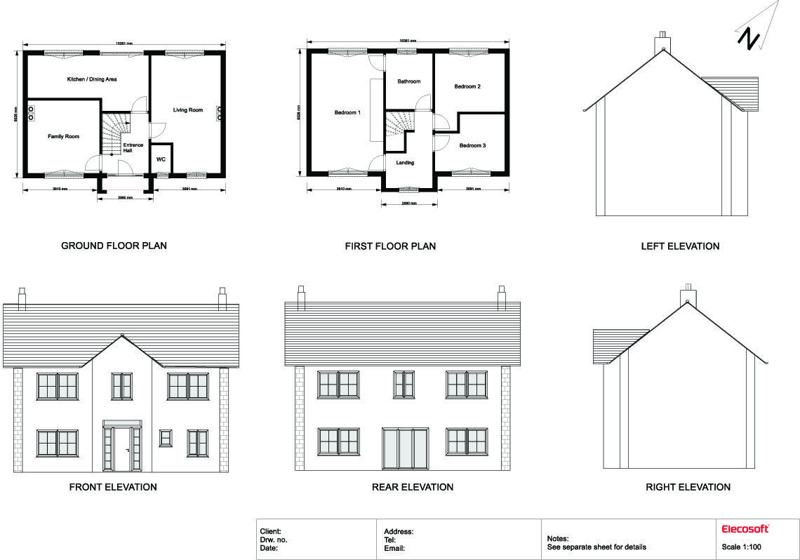 Image result for plan elevation section of residential