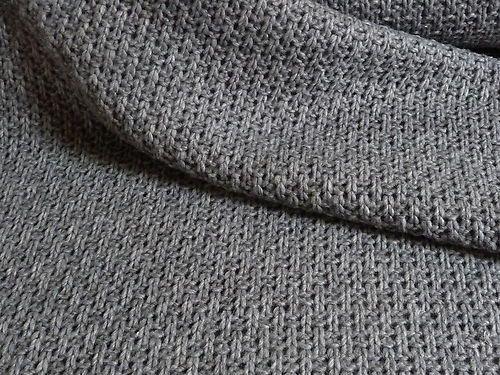 Designer Strick JERSEY aus Baumwolle Winter-Stoff weich u warm Jacke Kleid Rock