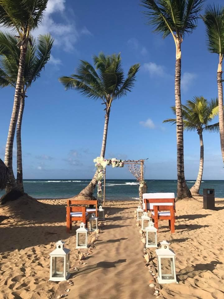 Beach Ceremony Setup At Excellence El Carmen Punta Cana Dr Romancetravelspecialist Elcarmen Lindadancer Honeymoonsinc