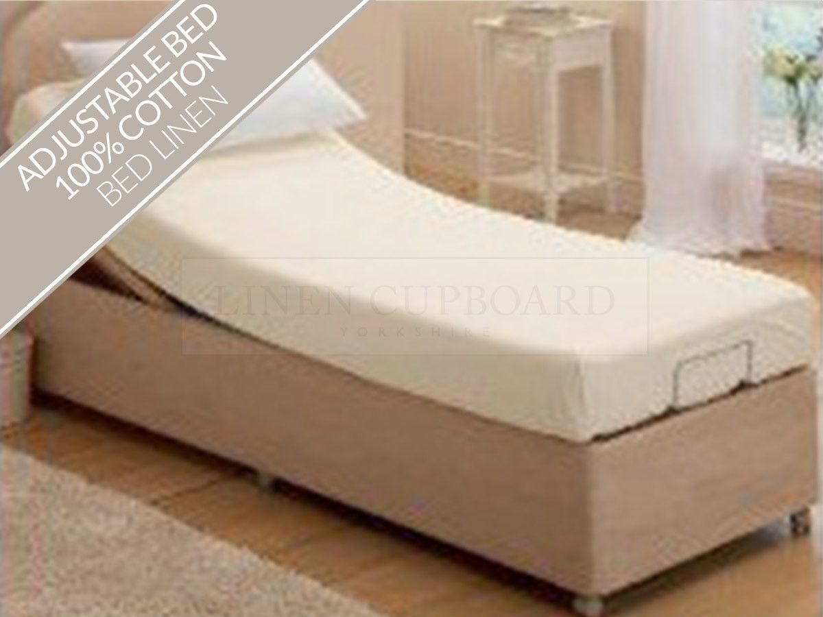 Mattress · Adjustable Bed 100% Cotton Jersey Sheets