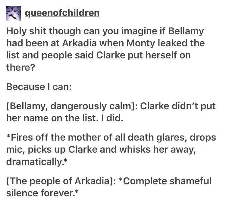 I can only imagine Bellarke