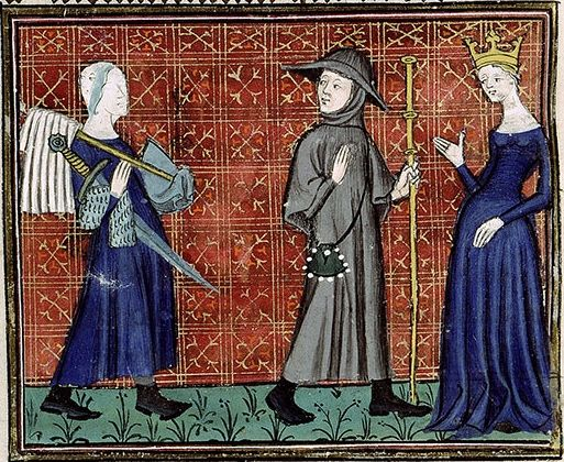 Bib Ste Genevieve Ms 1130 Pelerinage De Vie Humaine 1375 1400 Medieval Crafts Medieval Art Century Textiles